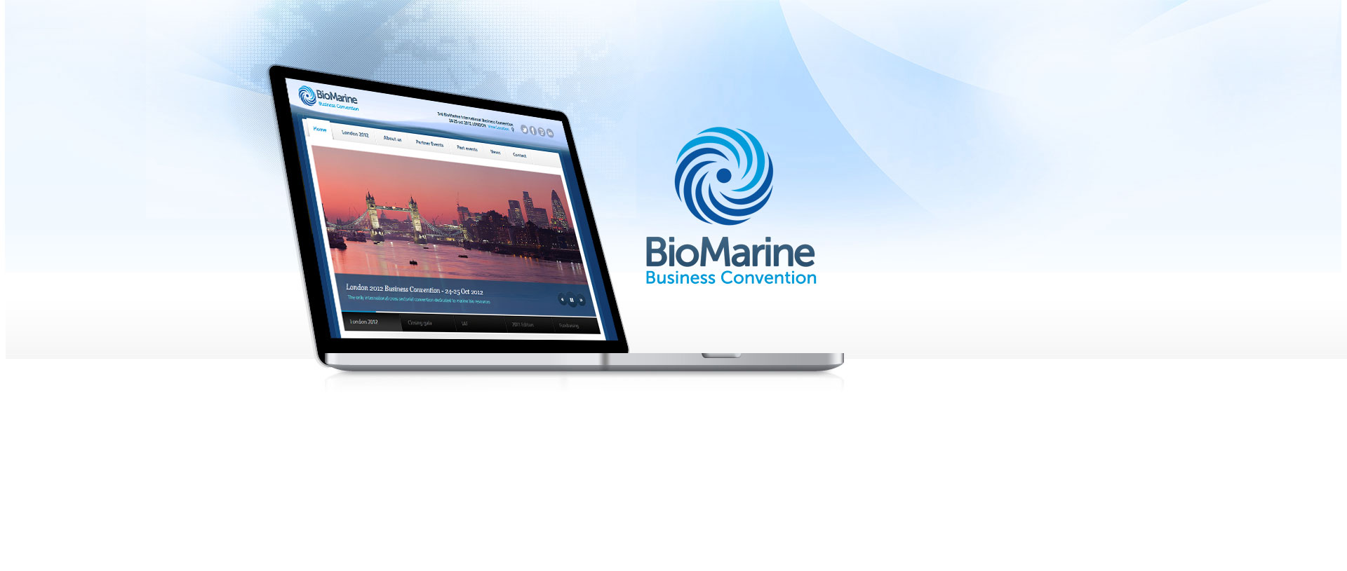 Biomarine business convention projet site web internet